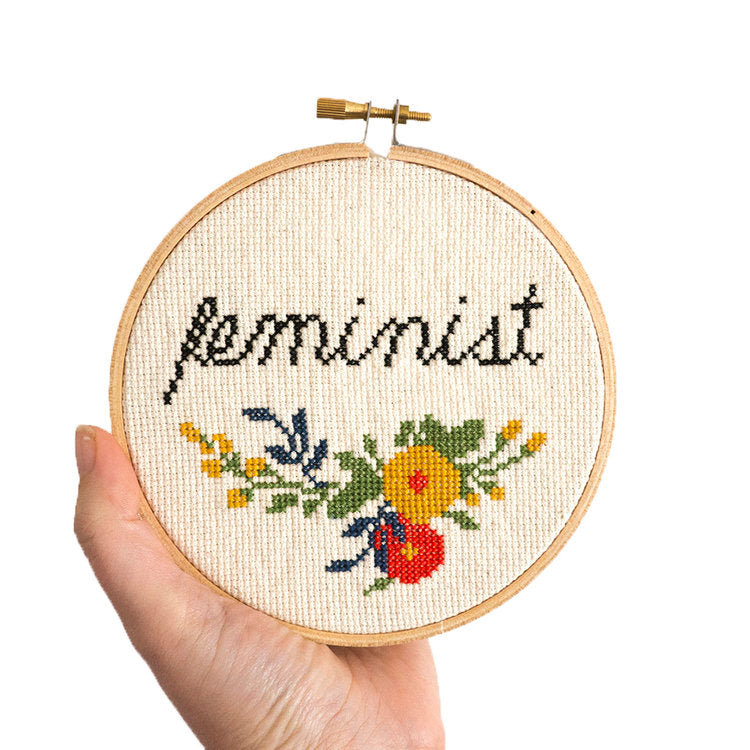 'Feminist' Embroidery Kit --- Junebug and Darlin