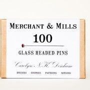 100 Glass Headed Pins Merchant & Mills of London