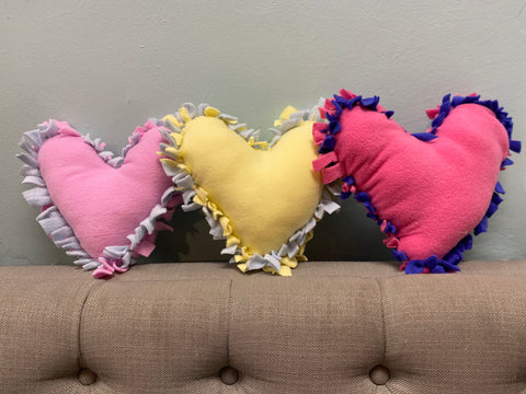 Valentine's Heart Pillow Kids Virtual Class