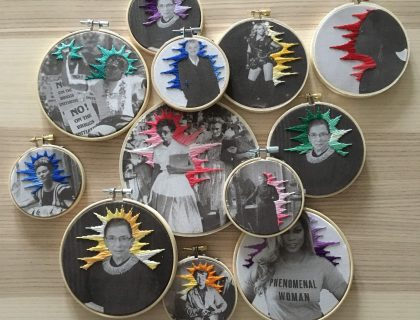 Elizabeth Eckford -- Heroes Mini Embroidery Kit -- The Comptoir