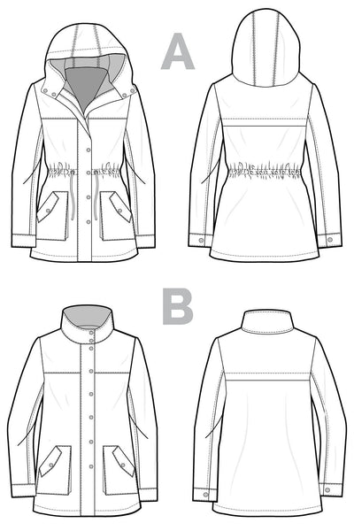 Kelly Anorak Jacket Pattern-- Closet Case Files