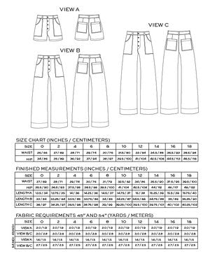 Lander Pants Pattern -- True Bias Patterns
