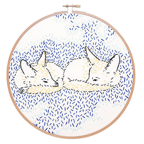 Dreaming Foxes Embroidery Kit by Studio MME