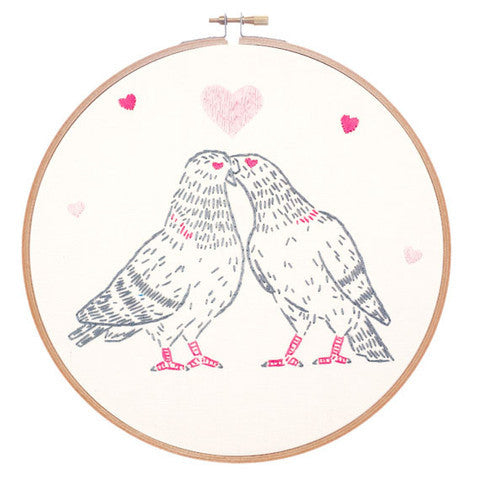 Love Pigeons Embroidery Kit by Studio MME