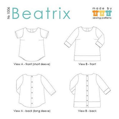 Beatrix Top Pattern -- Made by Rae