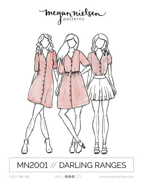 Darling Ranges Dress SEWING PATTERN by Megan Nielsen