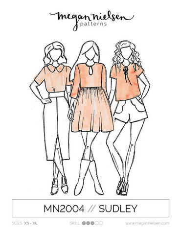 Sudley Dress & Blouse SEWING PATTERN by Megan Nielsen