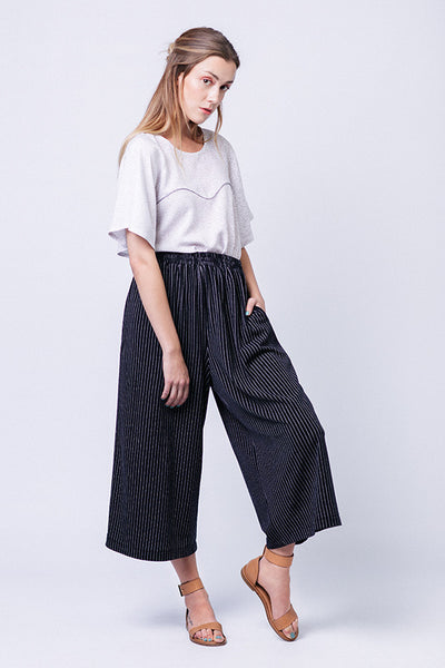 Ninni Elastic Waist Culottes Sewing Pattern-- Named Clothing