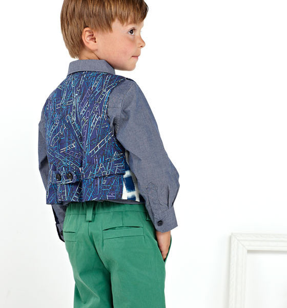 Oliver + S: Art Museum Vest + Trousers Sewing Pattern (6m-4)