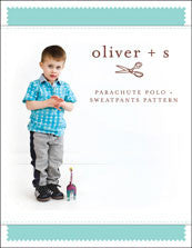 Oliver + S: Parachute Polo + Sweatpants Sewing Pattern (6m-4y)