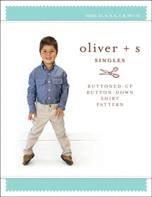 Oliver + S: Buttoned-Up Button-Down Shirt Sewing Pattern (6m-4y)