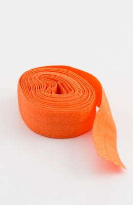 "Fold-over Elastic 5/8"" 2 yards in Orange --- Patterns by Annie"