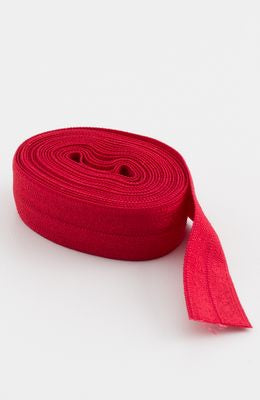 "Fold-over Elastic 5/8"" 2 yards in Red --- Patterns by Annie"