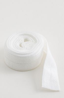 "Fold-over Elastic 5/8"" 2 yards in White --- Patterns by Annie"