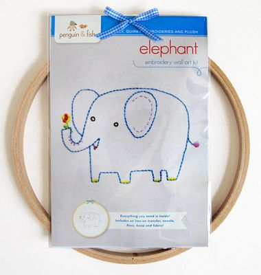 Elephant Embroid Wall Kit