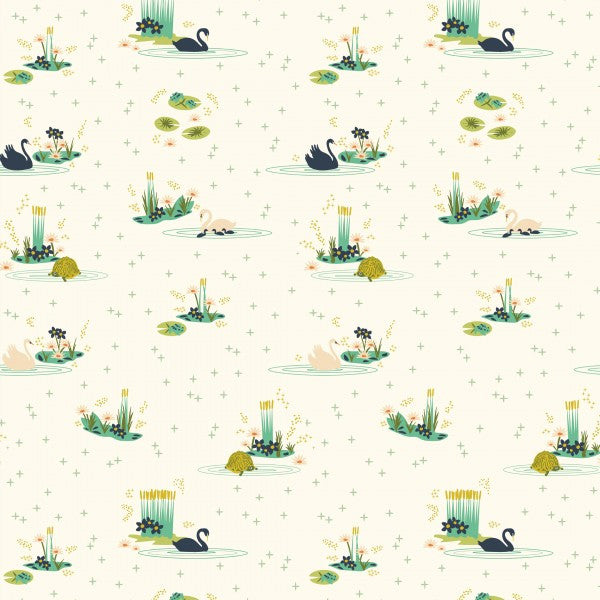 Swan Lake Main Cream-- Swan Lake Poplin--- Birch Fabrics