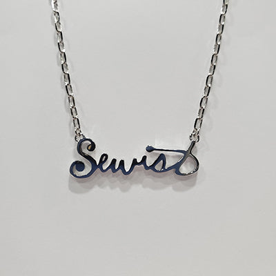 Sewist Necklace in Silver