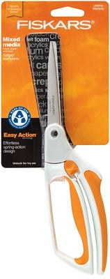 Fiskars spring-loaded fabric scissors