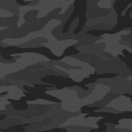 Charcoal Camouflage Ripstop Cotton -- Sevenberry for Robert Kaufman