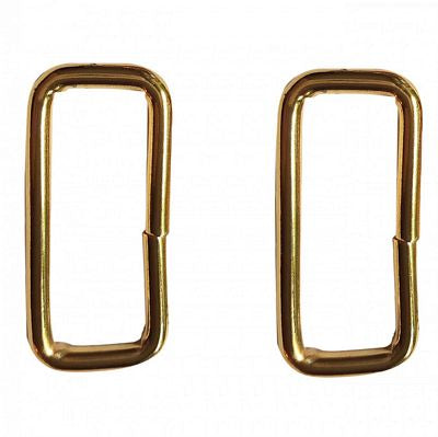 "1 1/2"" Wide Rectangle Rings Brass --- Studio Kat Designs"