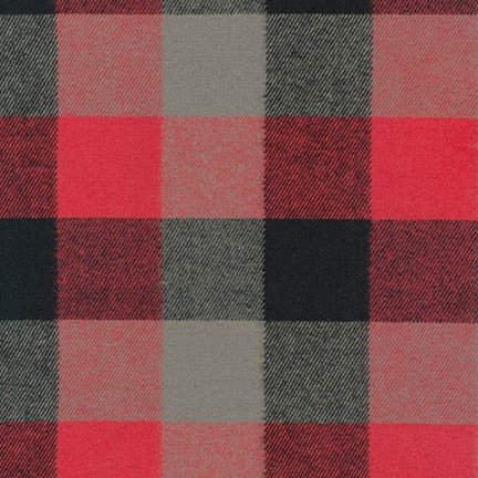 Durango Flannel in Red  -- Robert Kaufman