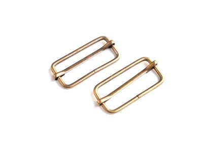 "1 1/2"" Antique Brass Slider Buckles --- Sallie Tomato"