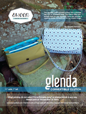 Glenda Convertible Clutch Sewing Pattern-- Swoon Sewing Patterns