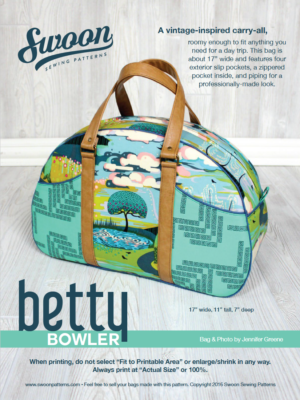 Betty Bowler Sewing Pattern-- Swoon Sewing Patterns