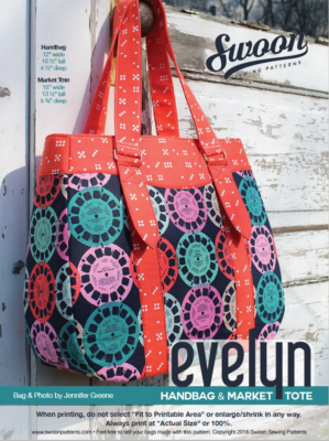 Evelyn Market Tote Sewing Pattern-- Swoon Sewing Patterns