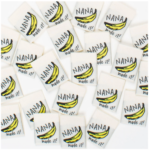 """Nana Made It"" Woven Label by Kylie and the Machine"