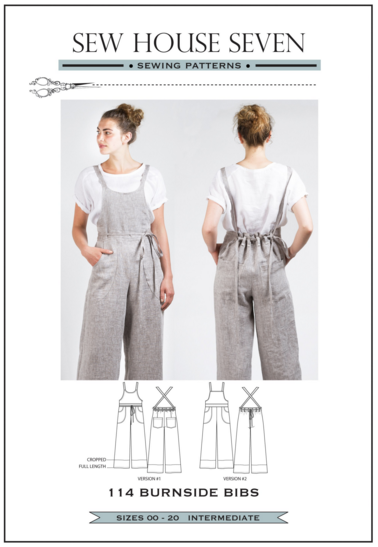 Burnside Bibs Sewing Pattern --- Sew House Seven