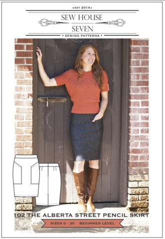 Sew House Seven the Alberta Street Pencil Skirt Sewing Pattern