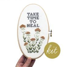 Take Time to Heal Embroidery Kit --- Junebug and Darlin
