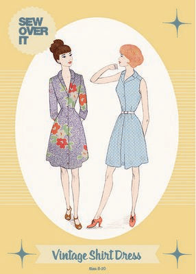 Vintage Shirt Dress Pattern -- Sew Over It