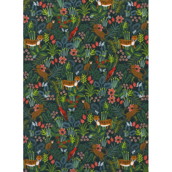 Menagerie - Jungle - Hunter Fabric-- Cotton + Steel Fabrics