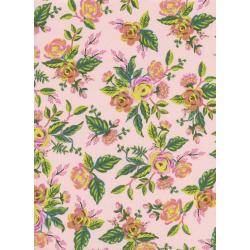 Menagerie - Jardin De Paris in Peony -- Rifle Paper Co for Cotton + Steel Fabrics