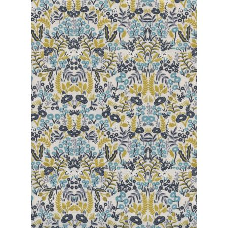Menagerie - Tapestry - Cream Natural Metallic Fabric-- Cotton + Steel Fabrics