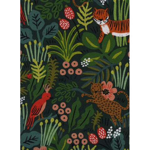 Menagerie - Jungle - Hunter Canvas Fabric -- Cotton + Steel Fabrics