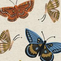 Monarch in Natural Canvas  -- English Garden by Rifle Paper Co. for C + Steel