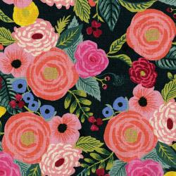 Juliet Rose in Navy Canvas  -- English Garden by Rifle Paper Co. for C + Steel