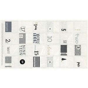Zen Chic Seasonal Advent Calendar Panel in White