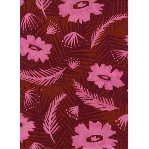Palm Springs Bouquet - Pink Rayon  -- Poolside  -- Cotton + Steel