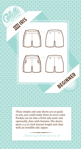Iris Shorts Pattern -- Colette Patterns