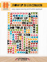 SHOW UP BREATHE QUILT PATTERN -- Lisa Congdon