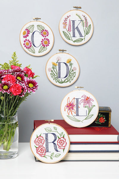 R is for Rose Embroidery Kit by Miniature Rhino