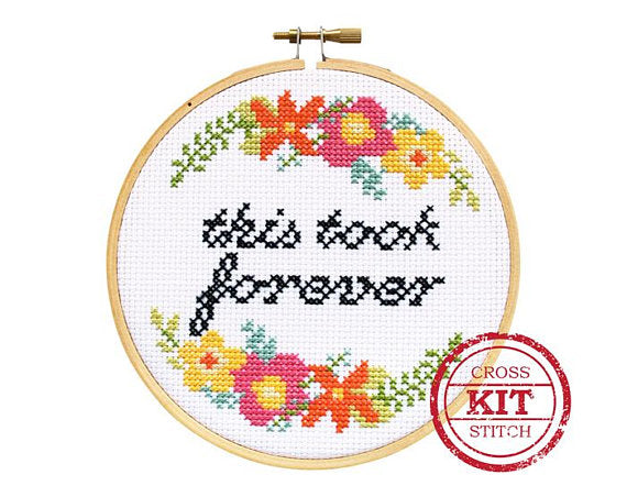 This Took Forever DIY Cross Stitch Kit -- The Stranded Stitch