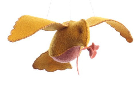Bird in Flight in Yellow/Pink Felt Kit-- Cynthia Treen Studios