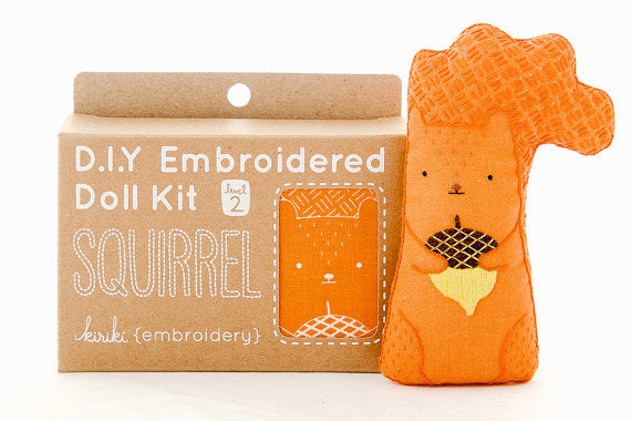 Squirrel Embroidery Kit --- Kiriki Press