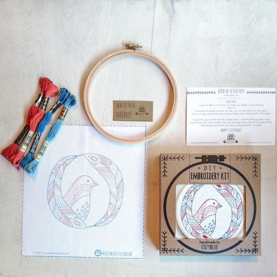 Bird of a Feather Embroidery Kit by Cozy Blue