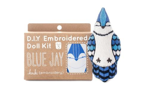 Blue Jay Embroidery Kit --- Kiriki Press